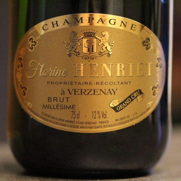 Etiquette Champagne Millésime Ruinart