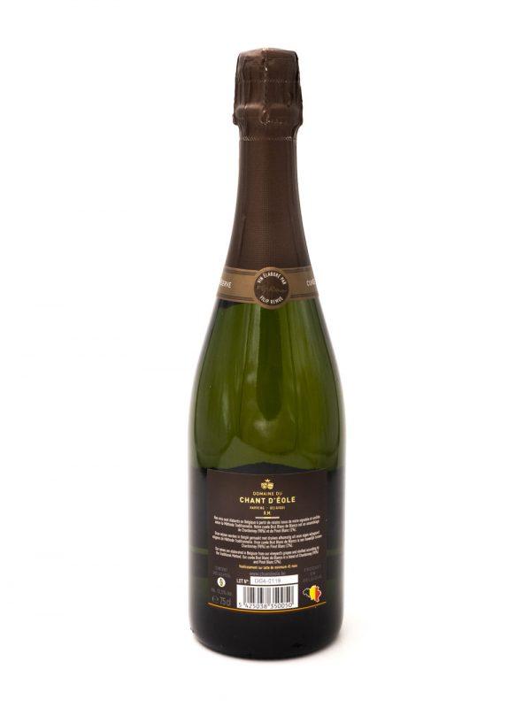 Chant d'Eole Millésime 2014 bouteille étiquette arrière