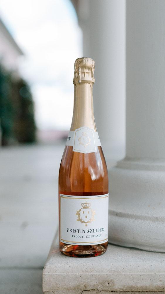 Cuvée sans alcool Pristin Sellier rosé sur colonne